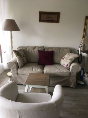 Sitting area <br>Two seater sofa, club chair and coffee table