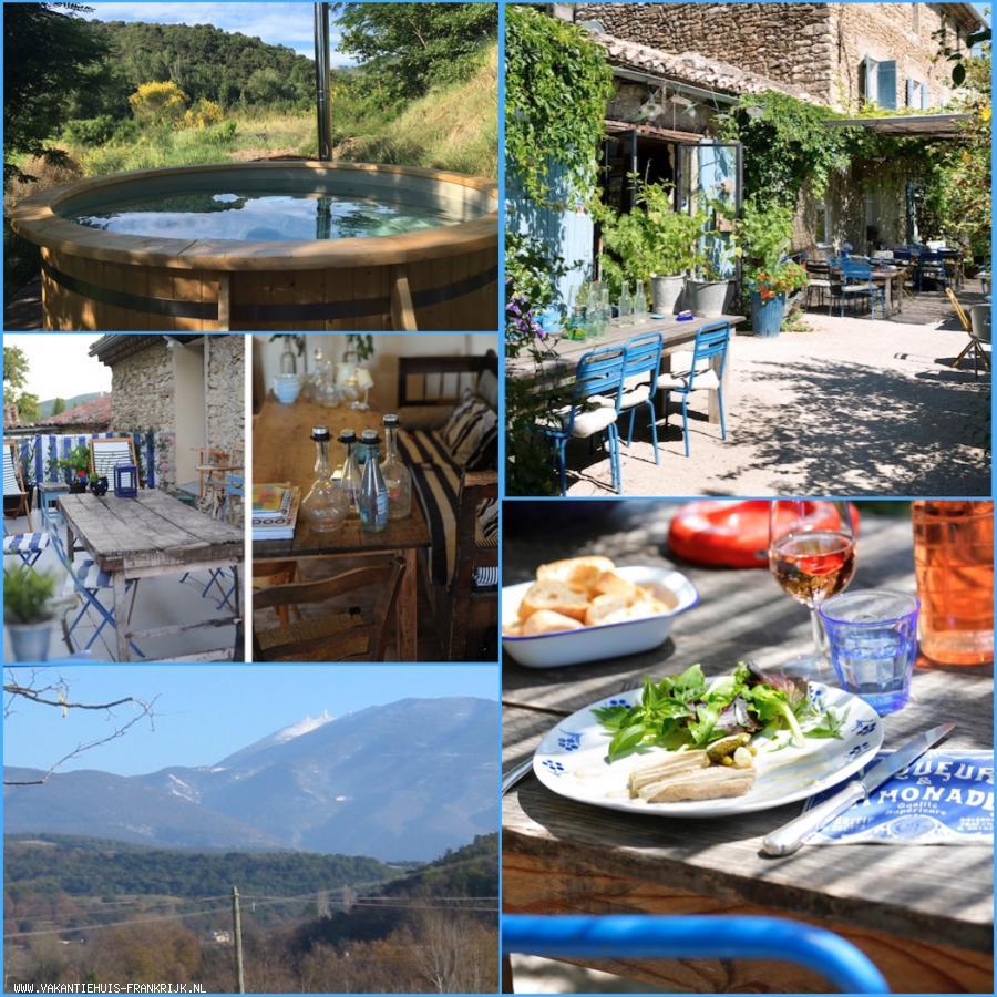 Vakantiehuis: Tussen Vaison la Romaine en Malaucene aan de voet van de Mont Ventoux ligt onze oude boerderij met twee gites, ingericht met boerenantiek. te huur voor uw vakantie in Vaucluse (Frankrijk)