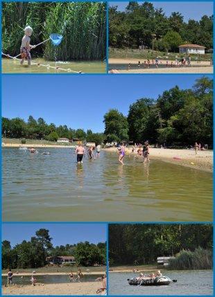 Het Meer Bij het park een lekker meer om te zwemmen. Zowel gras als zandstrand.