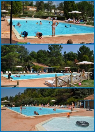 Zwembad Niet ver lopen is het zwembad. Alleen voor gasten van ons park.