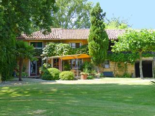 Vakantiehuis: fraai-rustig gelegen,subtropische tuinen,privé zwembad,vergezicht op de Pyreneëen te huur voor uw vakantie in Haute Garonne (Frankrijk)