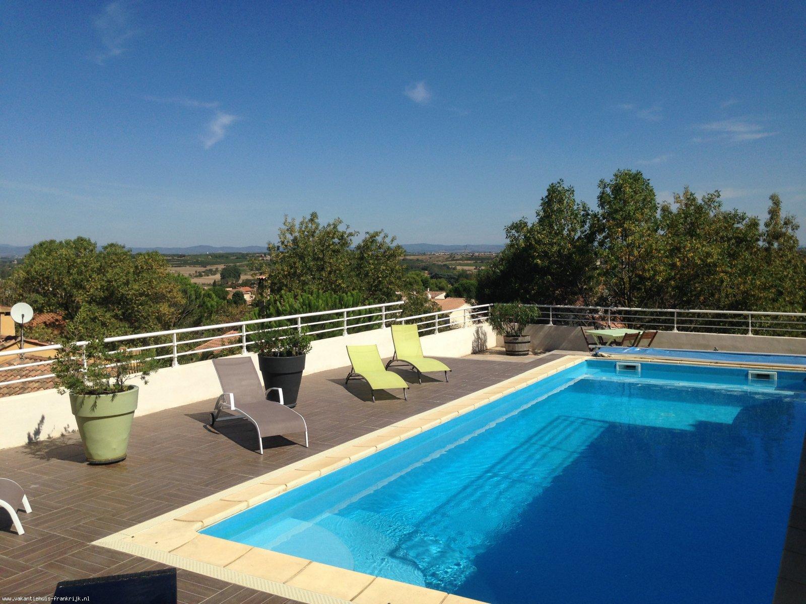 Vakantiehuis: Luxe vakantievilla met groot privé zwembad, 15min vanaf het strand te huur voor uw vakantie in Herault (Frankrijk)