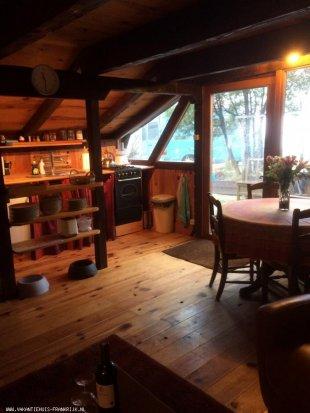 Eetkamerhoek met keuken