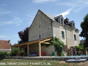 Vakantiehuis: Vakantiehuis met zwembad. Het huis is geschikt voor 6 volwassenen plus kinderen. te huur voor uw vakantie in Indre et Loire (Frankrijk)