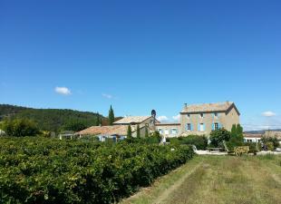 Vakantiehuis met zwembad: Prachtig Maison de Maître op voormalig wijndomein met tuin, zwembad en tennis aan de Mont Ventoux