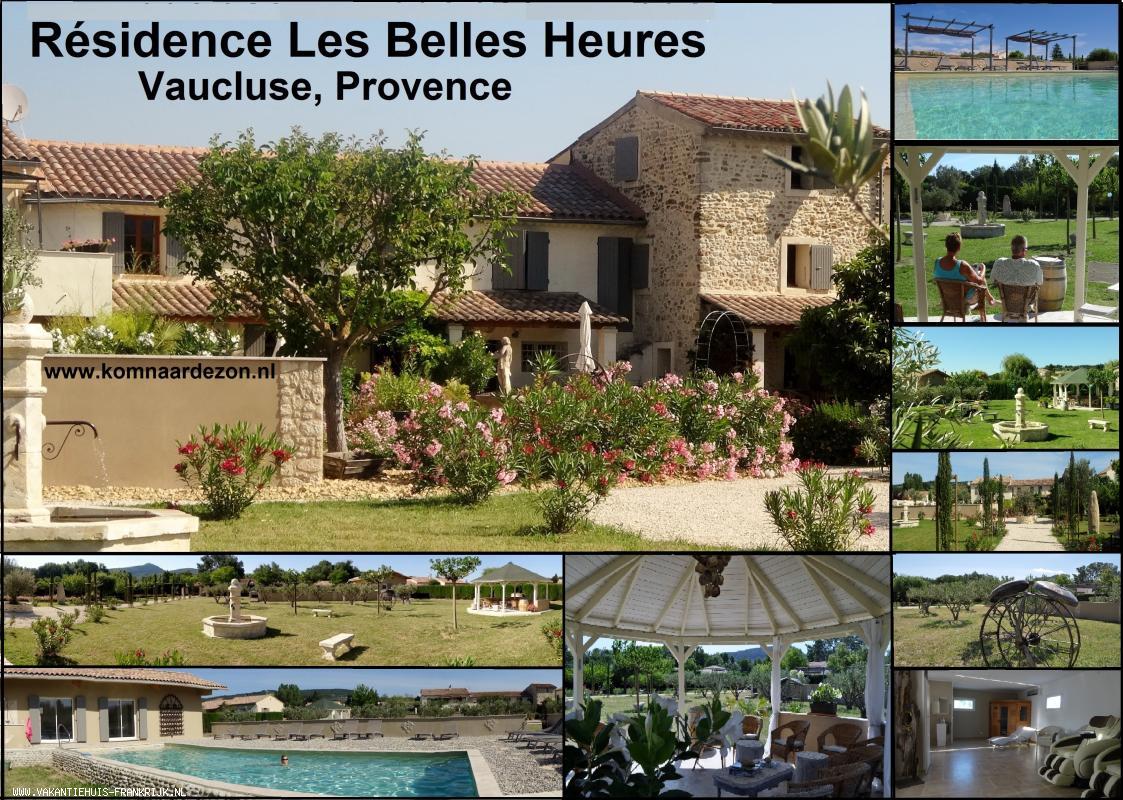 Vakantiehuis: Het 'Verborgen Juweeltje' in de Provence voor Ontspanning, Rust, Wellness, Massages, Wijnproeverij, Nederlandstalig te huur voor uw vakantie in Vaucluse (Frankrijk)