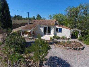 Vakantiehuis: Een geweldig uitzicht, studio, 6 persoon villa, verwarmd privé zwembad en zomerkeuken te huur in Aude (Frankrijk)