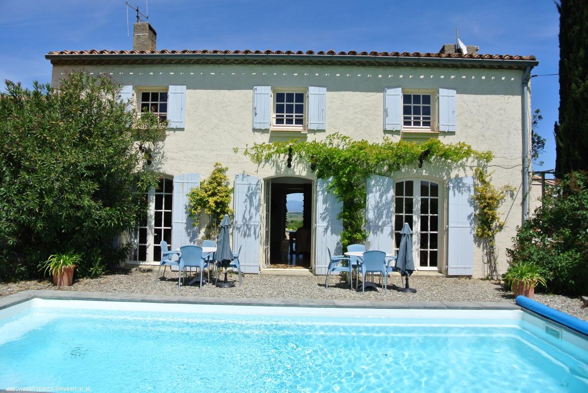Vakantiehuis: MAS MOULIN,EEN FANTASTIES VAKANTIEHUIS MET ZWEMBAD IN ZUID-FRANKRIJK. te huur voor uw vakantie in Aude (Frankrijk)