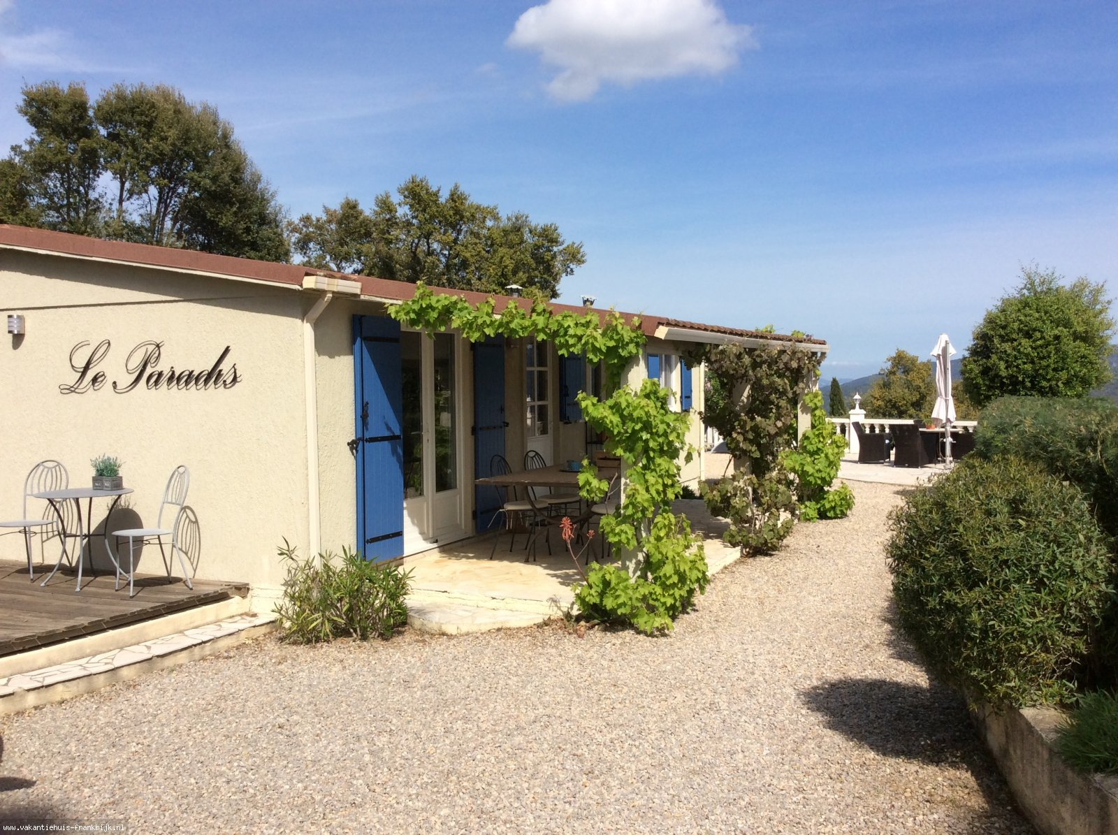 """Vakantiehuis: Petite Maison """"Le Paradis"""" te huur voor uw vakantie in Var (Frankrijk)"""
