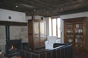 Het interieur van de gite <br>Comfortabel, romantisch en ruim.