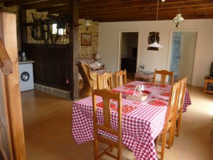 Kitchen/dining room <br>fridge and freezer, microwave, dishwasher, oven and hobb. highchair available