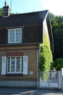 Vakantiehuis: Picardie, Baie de Somme in Saint Valery sur Somme, aan het begin van de haven ligt ons familievakantiehuis, authentiek en met terras en tuin