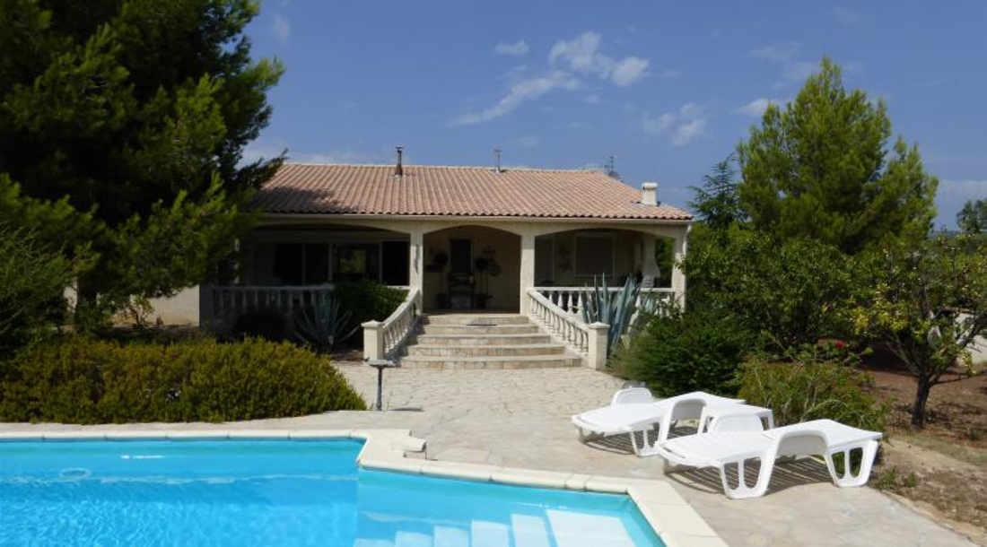 Vakantiehuis: Mooie, mediterane villa voor 6 personen met prive zwembad te huur voor uw vakantie in Herault (Frankrijk)