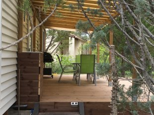 Chalet Zicht op de overdekte veranda