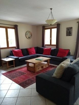Lounge <br>The open plan lounge has plenty of comfortable seating and french doors leading to the terrace and garden