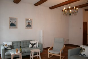 Living Room <br>Comfortable seating and tv for catching up with sporting events