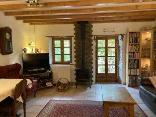 Living room with log burner <br>4.5 m x 4.7