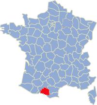 Kaart Frankrijk: departement Ariege