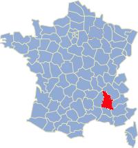Kaart Frankrijk: departement Drome