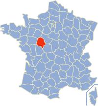 Kaart Frankrijk: departement Indre et Loire