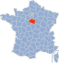 Landkaartje Loiret