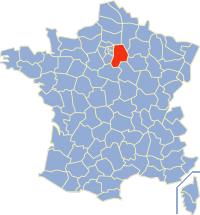 Kaart Frankrijk: departement Seine et Marne