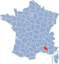 Kaart Frankrijk: departement Vaucluse